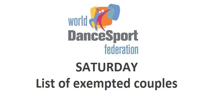 Saturday - list of exempted couples